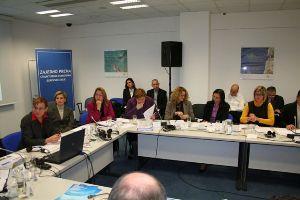 Zagreb, 8. studenoga 2011. - uz predstavnike Europske komisije na sastanku su bili i predstavnici Delegacije Europske unije u RH, EBRD-a, SAFU-a, Nacionalnog fonda, Državnog ureda za reviziju, Ministarstva zaštite okoliša, Ministarstva regionalnog razvoja, šumarstva i vodnog gospodarstva i krajnjih korisnika koji su uključeni  u  EU ISPA programe u Hrvatskoj