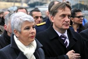 Rijeka, 25. siječnja 2011. - premijerka Kosor i resorni ministar Kalmeta