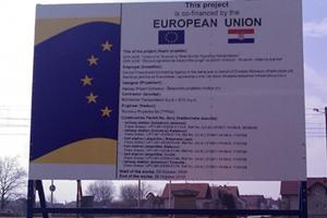 Panel ploča za radove rekonstrukcije pruge Vinkovci–Tovarnik u Vinkovcima