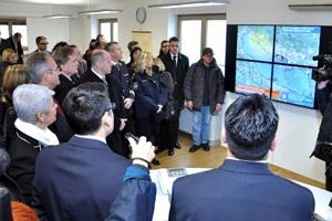 Rijeka, 25. siječnja 2011. - rad sustava nadzora pomorskoga prometa premijerki Kosor predstavili su djelatnici Ministarstva mora, prometa i infrastrukture