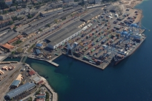 aerial photo of Container Terminal