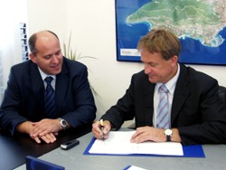 Ministar Kalmeta i državni tajnik za more Bačić