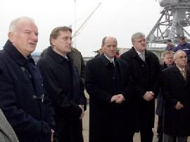 Minister Kalmeta visiting Port Vukovar