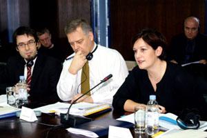 Zagreb, 10. prosinca 2009. Elene Grech, voditeljica Odjela u Općoj upravi za regionalnu politiku EU sa suradnicima