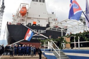 Rijeka, April 14 2011 - the launching ceremony of the new tanker for shipping company