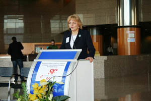 Zagreb, 29. studenoga 2010. - Maja Markovčić Kostelac, v.d. ravnateljica Uprave pomorskog prometa, pomorskog dobra i luka govorila je o programu Marco Polo II, koji je u potpunosti namijenjen sektoru prijevoza