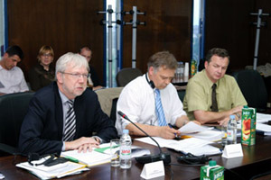 Zagreb, 3. lipnja 2009. Erich Unterwurzacher, voditelj Odjela u Općoj upravi za regionalnu politiku u Europskoj komisiji, kao supredsjedatelj sudjelovao je na četvrtom sastanku Sektorskog nadzornog odbora za komponentu IIIa programa IPA u pratnji suradnika